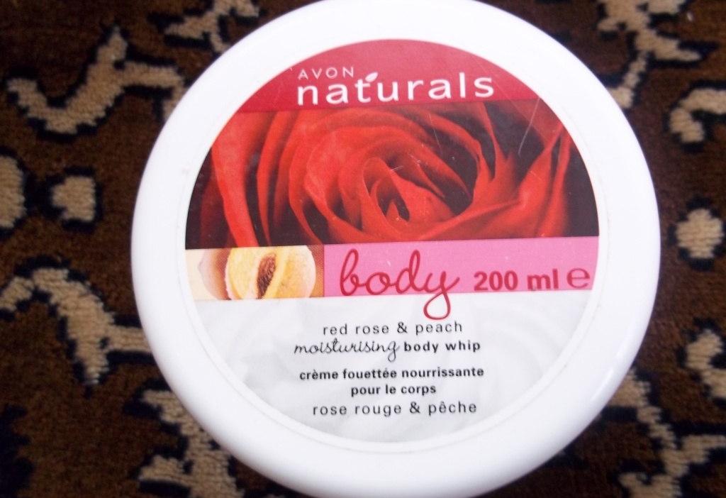 крем-суфле для тела Avon «Красная роза и персик»