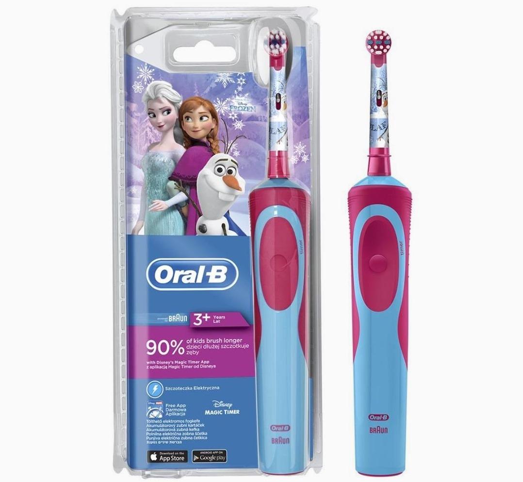 Детская электрическая зубная щетка Oral-B D12.513K Frozen Kids