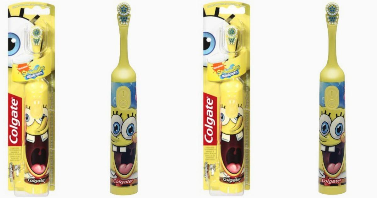 Детская электрическая зубная щетка Colgate Sponge Bob