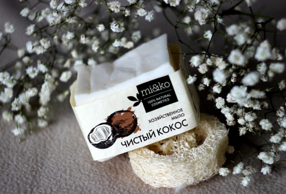 хозяйственное мыло Ми&Ко «Чистый кокос»