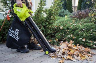 садовый пылесос для сбора листьев электрический с измельчителем
