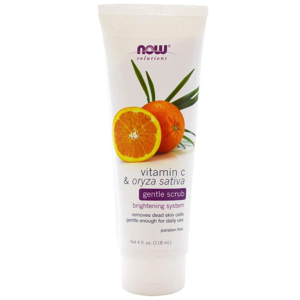 Now Foods Solutions Gentle scrub Скраб для лица с витамином С