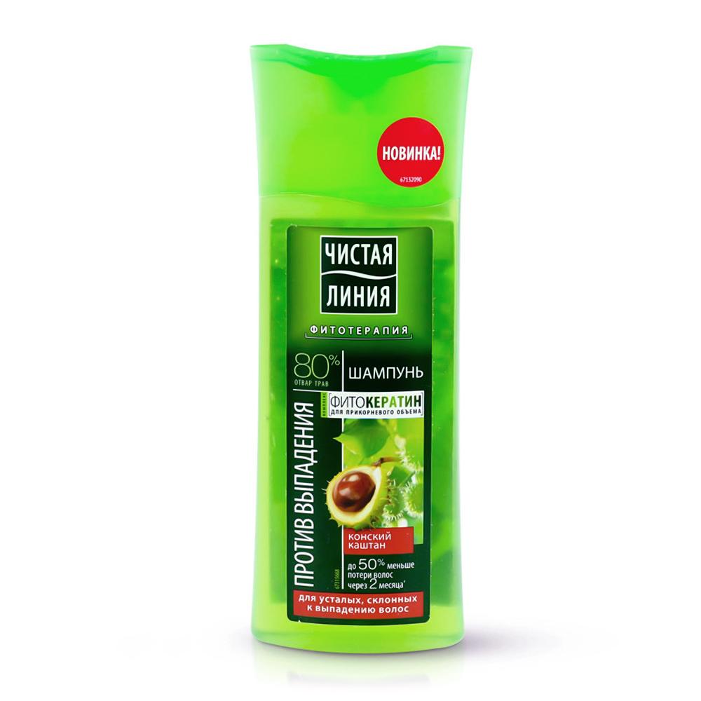 «Чистая линия» шампунь против выпадения волос «Конский каштан»