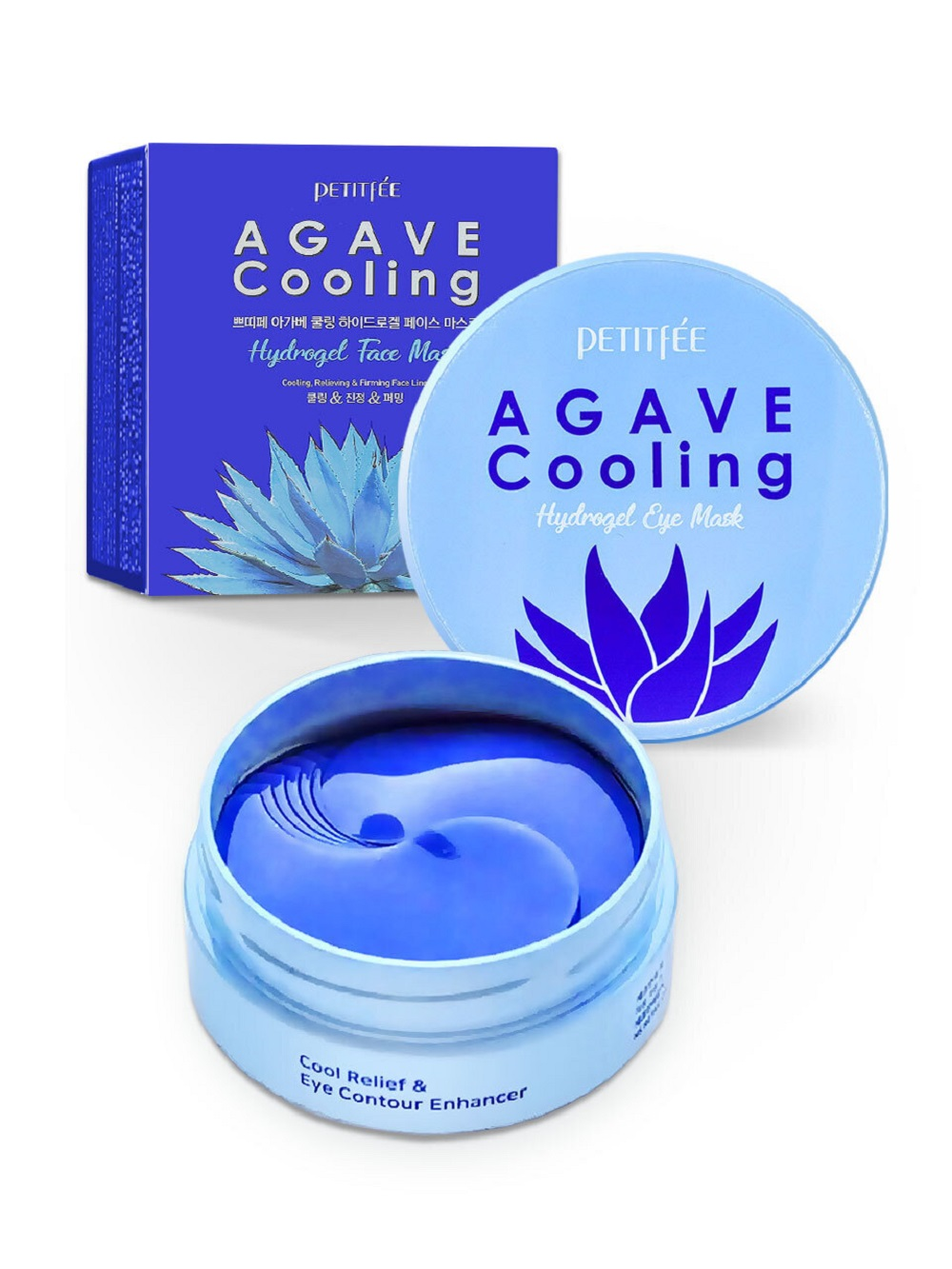 Agave cooling hydrogel eye patch