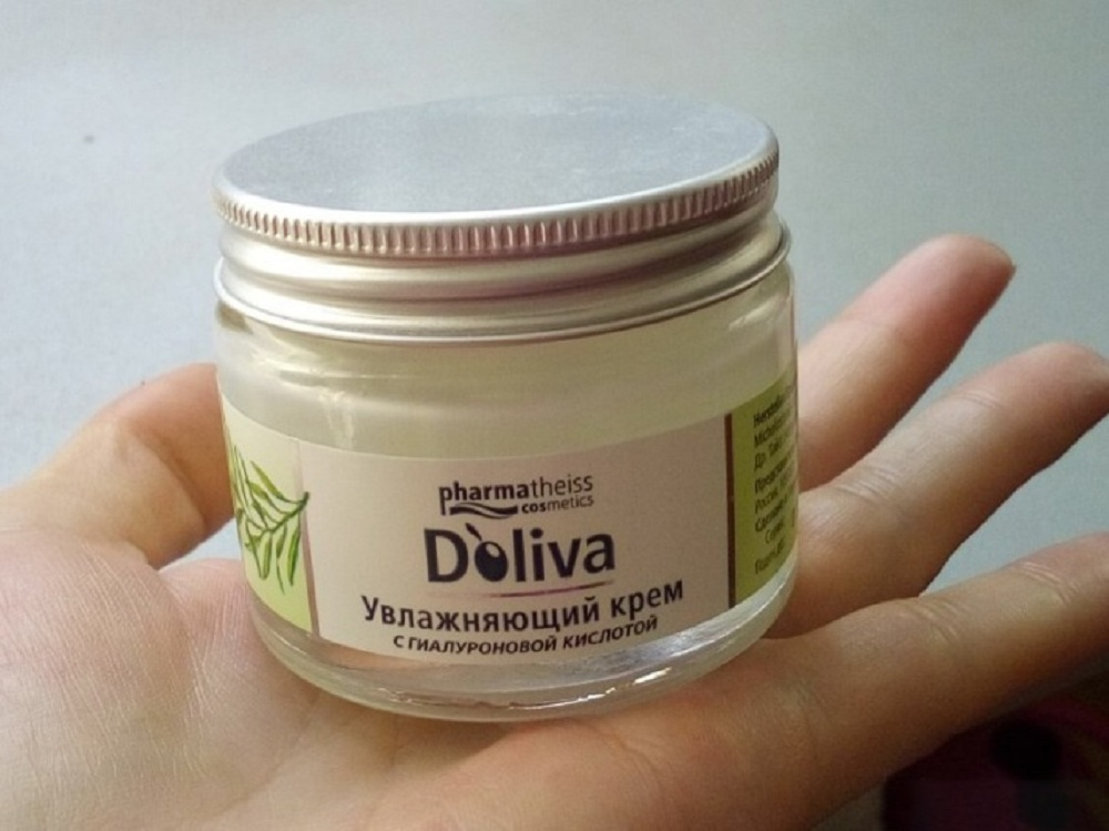 Увлажняющий крем для лица с гиалуроновой кислотой D'Оliva