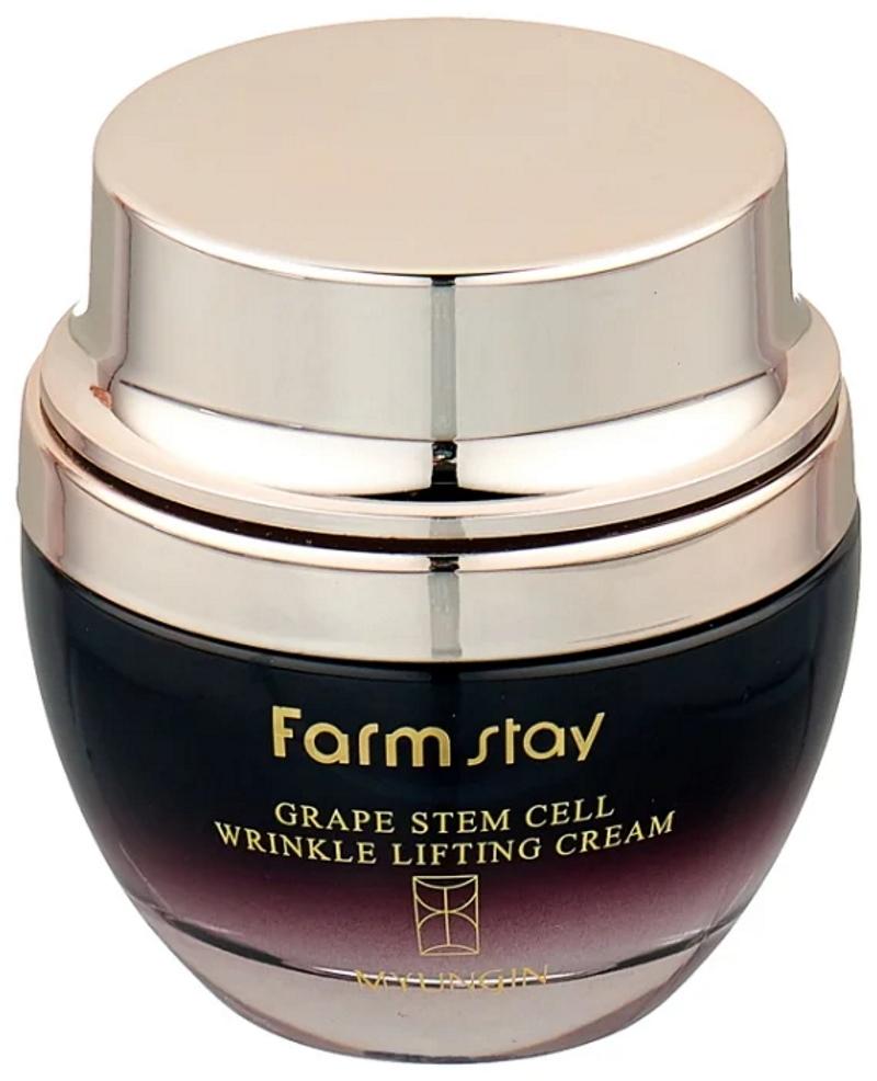 Лифтинг-крем для лица против морщин Stem Cell Wrinkle Lifting Cream от Farmstay Grape