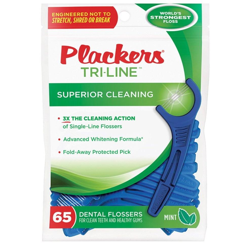 Plackers Tri-Line: флоссер для ухода за полостью рта