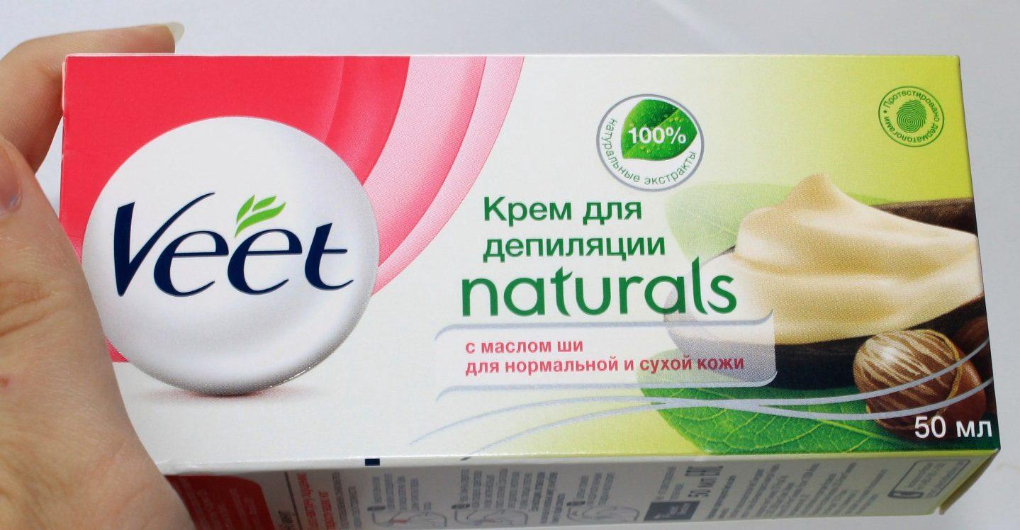 Veet: крем для депиляции Naturals с маслом ши