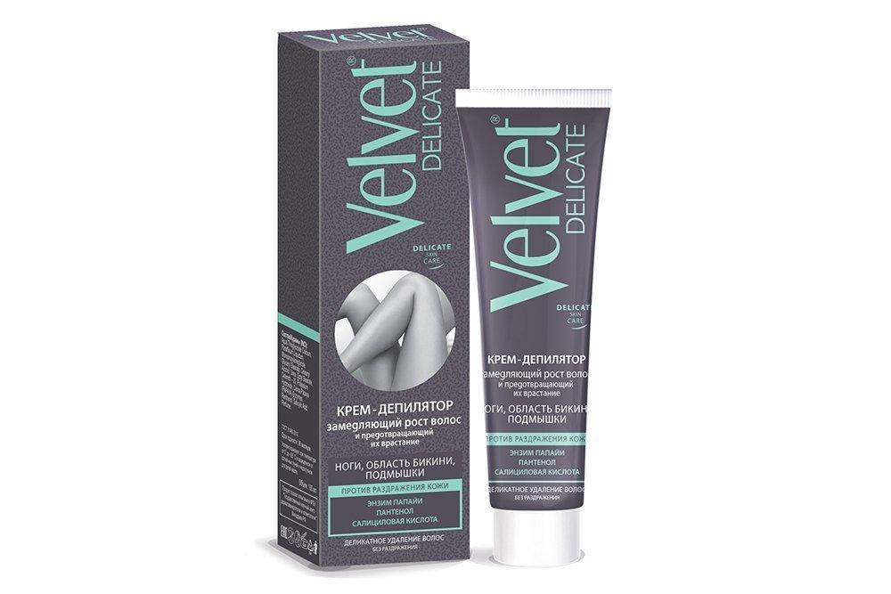 Velvet: крем для депиляции Delicate для чувствительной кожи