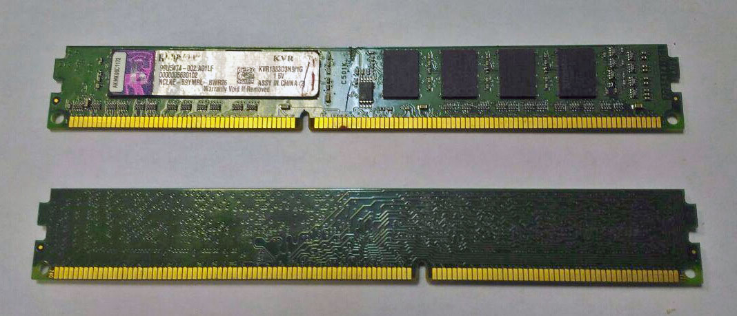 Оперативная память 1 GB Kingston KVR1333D3N9/1G