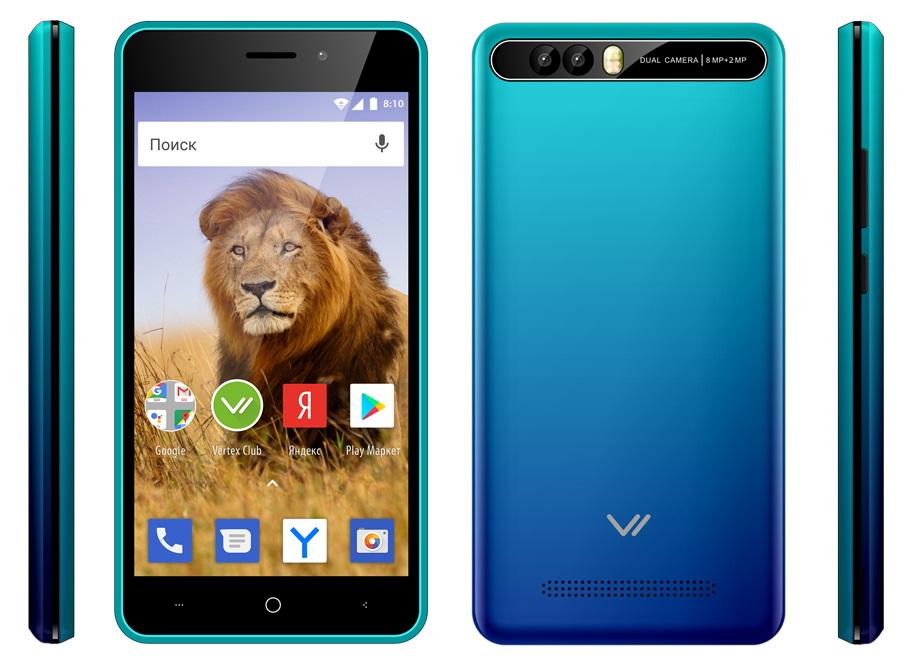 Смартфон VERTEX Impress Lion 3G Dual Cam