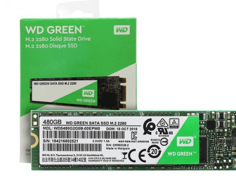 Твердотельный накопитель Western Digital WD Green SATA 120 GB WDS120G2G0B