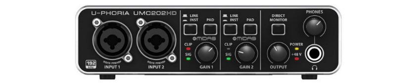 Внешняя звуковая карта BEHRINGER U-PHORIA UMC202HD