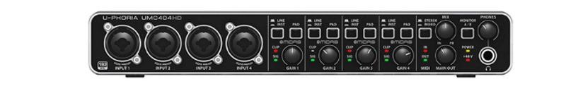 Внешняя звуковая карта BEHRINGER U-PHORIA UMC404HD